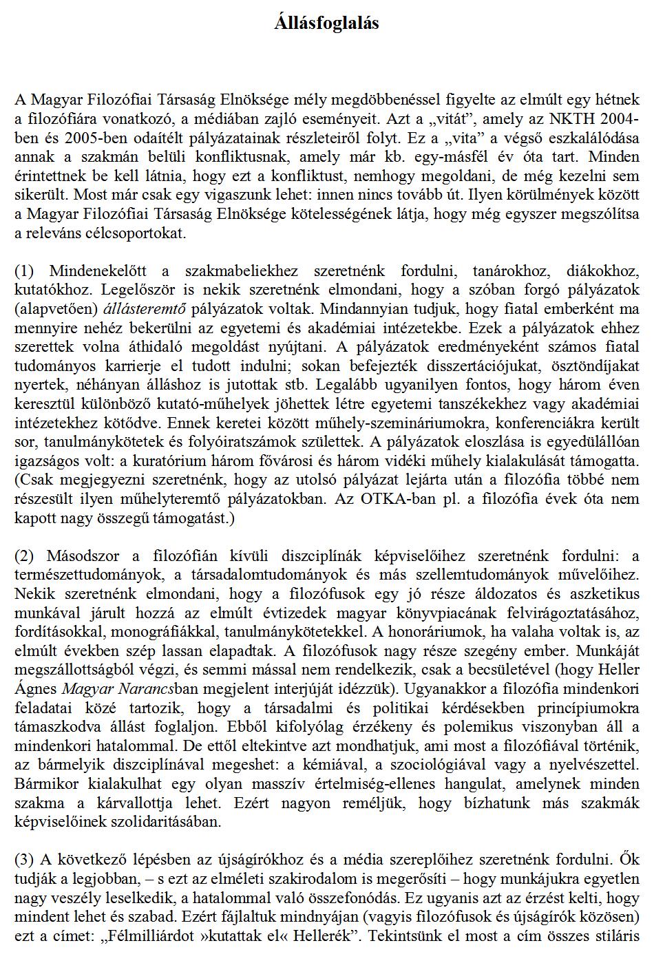 önéletrajz minta esszé jellegű A Magyar Filozófiai Társaság honlapja önéletrajz minta esszé jellegű