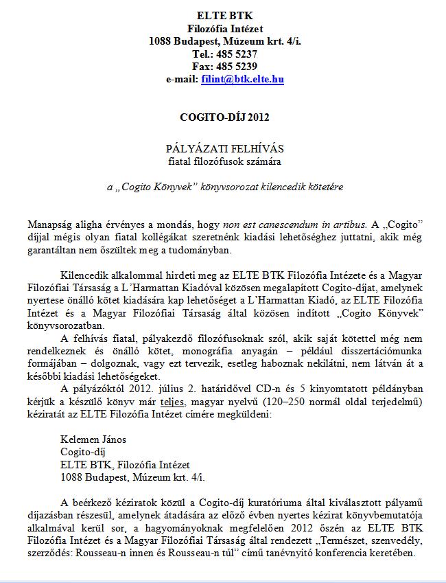 tanári önéletrajz minta A Magyar Filozófiai Társaság honlapja tanári önéletrajz minta
